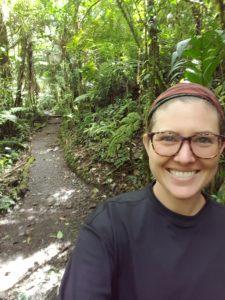 Ellye on a beautiful jungle trail